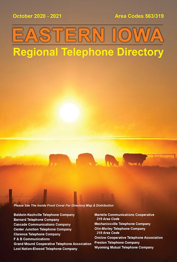 Eastern Iowa Regional Telephone Directory Cover